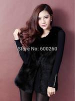 Hot sales Women Faux Fur Vest Winter Long Vest Sleeveless Luxury Fur Coat Plus Size Slim Fur Vest 2014 fashion