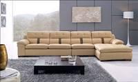 modern home furniture 2013 living room furniture Top Grain Leather L Shaped Corner Sectional Sofa Set  L8033