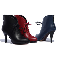 2014 fall short boots leather pointed stilettos Martin boots boots footwear market
