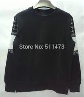 Rare new 2014 GIV GVC european hip hop Put together Men pullover sweatshirt in black free shipping