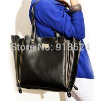 TFH Women's Bag 2014 New Fashion Lady's Cross Lock PU Handbag And Messenger Bag Wild Casual 2 Pieces Composite Bag Free Shipping
