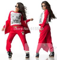 Women's sets Leopard 3 Piece tracksuit Brand Girls sport suits Sportswear Hoodies Sweatsuits Costume