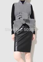 Fashion Women PU Leather Skirt Zipper Tight