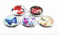 2014 NEW ARRIVAL Varied Pattern Customizable Compact Mirror DIY Pocket Mirror Party Favors and Gifts+100pcs/lot+FREE SHIPPING