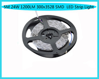 5M 24W 1200LM 300x3528 SMD LED  LED Strip Light (DC 12V )  Free shipping