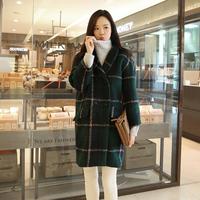 2014 women wool outerwear wool coat female thick woolen outerwear