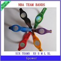 100PCS Sports Basketball Bracelet Power Bands Balance Energy Silicone Wristband with box DHL free shipping