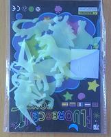 45pcs/lot Anilmal 9cm Dinosaur glow wall In The Dark Stickers Baby Kids Gift Nursery Room Luminous Fluorescent Stickers