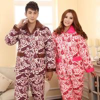Full-sleeved cotton lovers pajamas cute cartoon pyjamas for couple style sleepwear Lounge free shipping