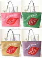 Free Shipping New Arrival High Quality Think Green Canvas Women's Handbag Messenger Bag, Shoulder Bag, Tote Bag