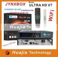 HOT SELL 2PCS Original jynxbox ultra hd v7 with JB200 module build in wifi,,USB PVR,HDMI JynxBox V7 for North America