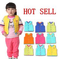 2014 Fall/winter new baby clothing children's down vest cartoon cute kid coat