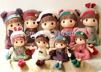 40cm / 60cm Kids Toys Children 3 years Girls Cartoon Cute Plush Toys Stuffed Pig Bear Sheep Rabbit Dolls Free Shipping