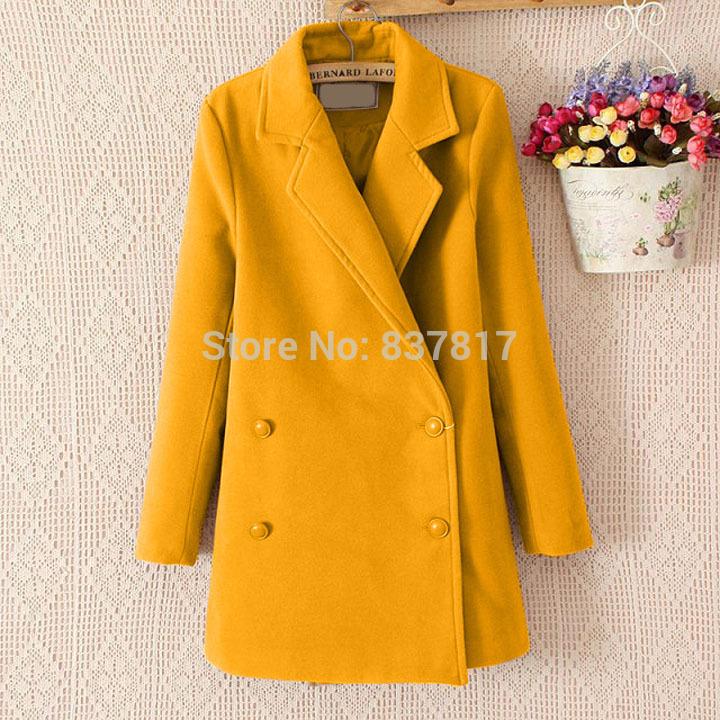 Зима женщины пальто пиджаки шерсть полушерстянная длинная сплошной пальто куртка пальто b7 CB031224