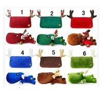 Cartoon Christmas deer bamboo charcoal baotou pillowcase with car furnishing articles