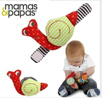 2014 new Baby rattle toys Mamas Papas snail Wrist Rattles infant baby mobile music toy for baby kid gift 100 pcs/lot free shipp