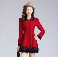 New Nick in the Korean version of women fall/winter female coat long slim fit winter coats from the coat woolen cloth coat