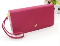 Ms. cross pattern single pull purse wallet 2014 new Ms.