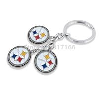 sport jewelry enamel single-sided pittsburgh steelers keychain for men