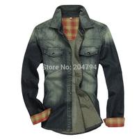 C216 New Fashion Men's Vintage Denim Casual Stylish Wash Jeans Shirts