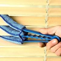 Microfibre Triple Blinds Venetian Slats Blind Dust Cleaner Brushes Duster