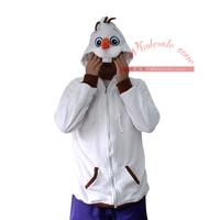 Cosplay Animal Anime Frozen Snowman Olaf Hooded Hoodie&Sweatshirts,Adult Women Men Fleece Jacket outwear