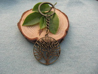 2pcs/ lot Wholesale tree of life wish tree key ring Fashion Jewelry antique jewelry steampunk gift