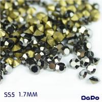 SS5 1.7MM 1440Pcs Point Back Rhinestone Hematite Color Point Back Chaton