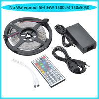 No Waterproof 5M 36W 1500LM 150x5050 SMD Mini RGB Light LED Strip Light Kits(DC 12V )