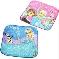 12PCS Frozen Handkerchief washcloth handkerchief mocket Children Baby Cotton Towel frozen Cartoon Absorbent Towels/Small Square