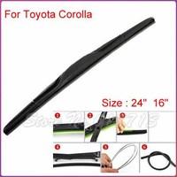 "auto car windshield wiper blade for Toyota Corolla 9,24"" and 16"",Car Wipers Blades,Natural Rubber Wiper,Car Accessory/AUTO SOFT"