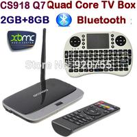 Q7 MK888B CS918 Quad Core Andriod TV Box RK3188 2GB 8GB Bluetooth WIFI Pre-installed XBMC Smart TV +Russian/English Air Mouse i8