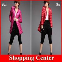 Wholesale New Winter Jacket Woman Outerwear duck Down Jacket Woman's Warm Down Coat Women Light Overcoat Free Shipping