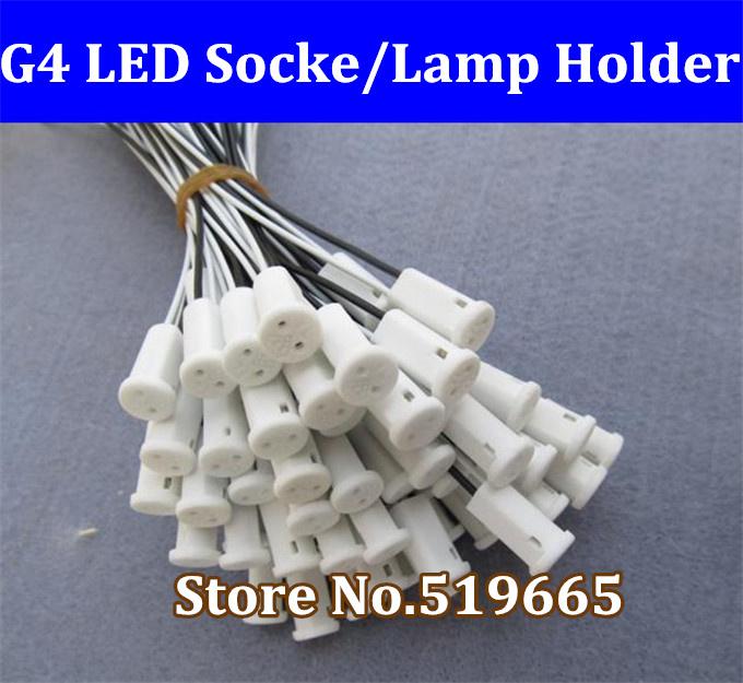 Brand New 30 x G4 lamp holder, G4 led socket, white color ceramic show lamp bases, free shipping(China (Mainland))