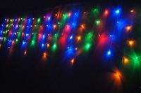 4PCS 3.5M 96 LED Icicle Light , Xmas Outdoor LED Lights , Waterproof End Plug , Long Bright / 8 Mode flash , Free Drop Shipping