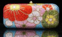 2014 Crystals Evening bag,Women Fashion Hard Case Metal Purses Party Handbags , CB6008-2