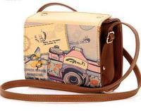 Casual Women Bags Graffiti Mini Packet Retro Camera Bags for Women Small Shoulder Bags Bolsas Vintage Messenger Bags 7 Colors