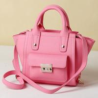 Summer one shoulder cross-body bags female small bag handbag women's genuine leather handbag smiley bag