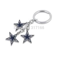 sport jewelry enamel single-sided dallas cowboys baseball keychains key chain