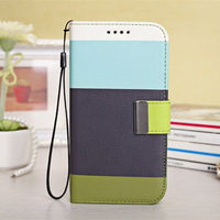New 2014 Fashion Colorful Rainbow Leather Wallet Case For Samsung Galaxy S5 Phone cases Flip Cover with Stand and Card Holder
