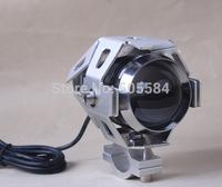 2pcs/lot Led Motorcycle flash light CREE U5 30W Spotlights Projector lens for Motorbike Electric cars Daytime warning daylight
