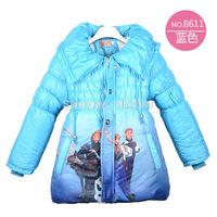 New designer hot sale cute cotton padded winter frozen coat girl frozen coat