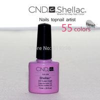 Free Shipping All 47Colours+Base+Top CND SHELLAC Soak Off UV Led Nail Gel Polish 20pcs/Set