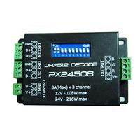 50pcs DMX-512/1990 digital signal  DMX Recorder  PX24506 DMX 512 Decoder Driver 9A DMX 512 Amplifier 12V 24V RGB LED Lights