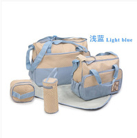 5pcs/set High Capacity Multifunctional Mummy Babies Bags Baby Diaper Bag For Mom Free Shipping