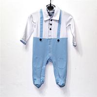 brand Baby  Rompers Clothing  kids Boys  Long sleeve Rompers blue  black