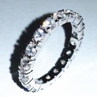 Full round stones ring simple shinning rings women's gift ALW1685