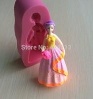 The Beautiful Princess Character Fasion Silicone Mould Cake Decorating Fondant Sugarcraft  Mold -P019