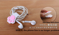New creative silicone cartoon Cute Winder  with catlike phone holder fit for Apple Samsung millet free shipping!