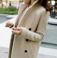 2014 women winter  woolen outerwear female wool coat